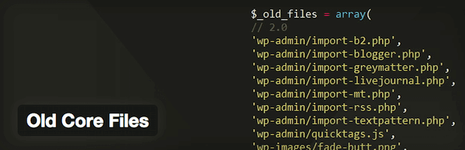 Imagem de capa do plugin WordPress Old Core Files