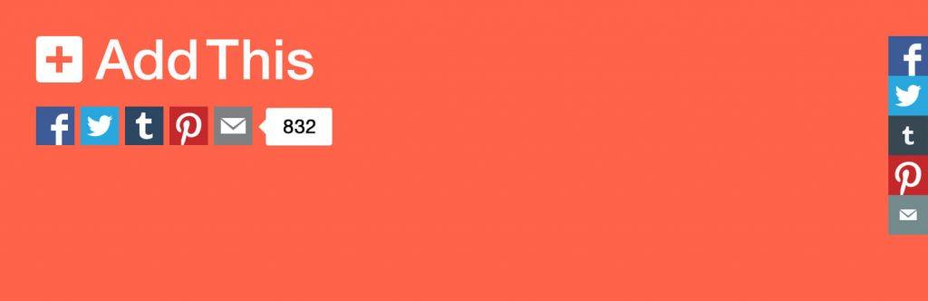 Plugin AddThis Share Buttons botões de compartilhamento
