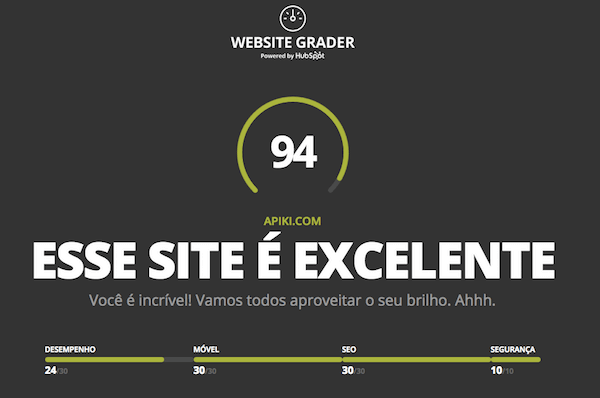 Website Grande by HubSpot - ferramenta para validar website mobile