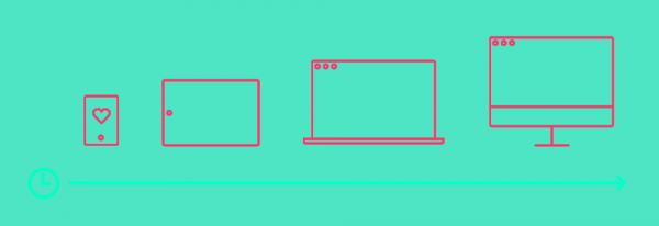 Ilustração de mobile first