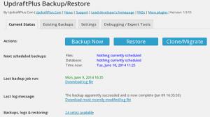 updraftplus-settings backup