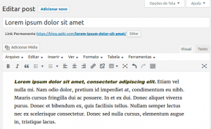 Melhorias no editor no WordPress 4.6 - post recuperado