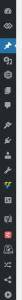 Exemplo de ícones nos itens de menu do painel do WordPress