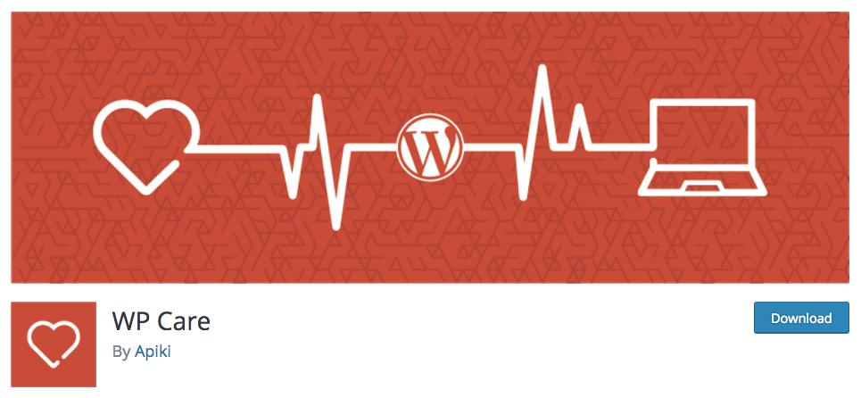 Exemplo da página do plugin WP Care no WordPress.org