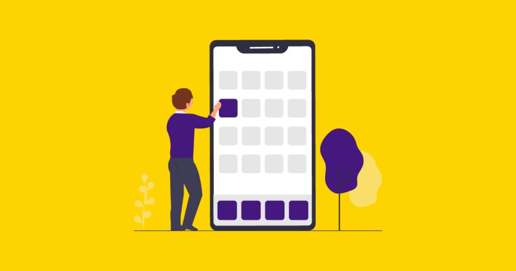 Ilustração para o Desenvolvimento de aplicativos móveis